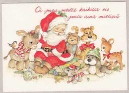 Santa Claus With Little Animal Friends - Santa Claus