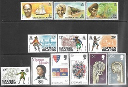 Cayman Islands   1974-5  12 Diff MNH   Including The $2 QE  2016 Scott Value $15.35 - Caimán (Islas)