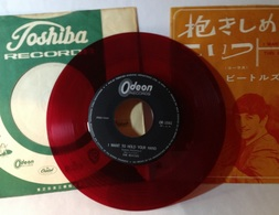 """Rare The Beatles""""I Want To Hold Your Hand""""Odeon OR-1041 Japan Red Vinyl 7 Single Reverse Side B""""This Boy"""".. - 45 Rpm - Maxi-Single"""