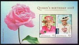 AUSTRALIA, 2018 QUEENS BIRTHDAY MINISHEET MNH - 2010-... Elizabeth II