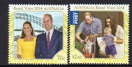 AUSTRALIA, 2014 ROYAL VISIT 2 MNH - 2010-... Elizabeth II