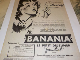 ANCIENNE PUBLICITE ALIMENT VITAL  BANANIA   1940 - Affiches