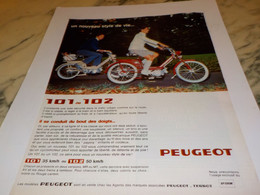 ANCIENNE PUBLICITE MOBYLETTE 101-102  PEUGEOT  1969 - Transport
