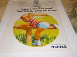 ANCIENNE PUBLICITE  LAIT CONCENTRE SUCRE BEBES NESTLE 1969 - Affiches