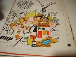 ANCIENNE PUBLICITE  CACAHUETE APERITIF PITJI 1969 - Affiches