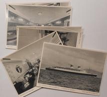 "Lot De 6 Cartes Anciennes Paquebot ""conte Di Savoia"" Italie , Italian Super Liner,super Transatlantico - Passagiersschepen"