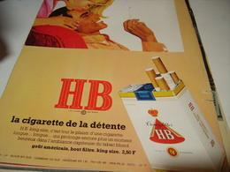 ANCIENNE PUBLICITE DE DETENTE CIGARETTE HB 1969 - Tabac (objets Liés)