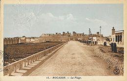 Mogador (Essaouira, Maroc) - La Plage - Edition Albert - Carte Colorisée N° 15 - Maroc