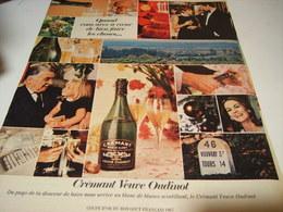 ANCIENNE PUBLICITE CREMANT VEUVE OUDINOT 1967 - Alcohols