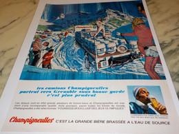 ANCIENNE  PUBLICITE BIERE DE CHAMPIGNEULLES 1967 - Alcohols