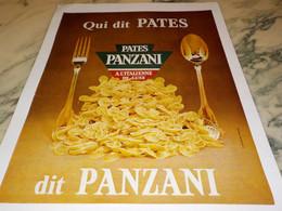 ANCIENNE PUBLICITE QUI DIT PATES  PANZANI 1965 - Affiches