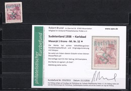 Sudetenland: Karlsbad 1939: MiNr. 52 * - Sudètes
