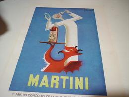 ANCIENNE PUBLICITE 1 ER CONCOURS DE LA PLUS BELLE AFFICHE  MARTINI APERITIF 1954 - Advertising