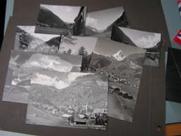 Mit Bahn Nach Zermatt , Fotos Und Karten Lot Ca. 1958 - VS Valais