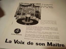 ANCIENNE PUBLICITE   PATHE MARCONI 1954 - Music & Instruments