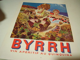 ANCIENNE PUBLICITE VIN APERITIF BYRRH   1954 - Alcohols