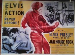 AFFICHE CINE ANGLAISE LE ROCK DU BAGNE (Elvis Presley) 69X102cm 1957 Jailhouse Rock - Posters