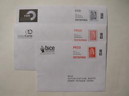 Postréponse Prio 20g Et Eco 20g, 3 Enveloppes Nouvelle  Marianne L'engagée, YseultYZ , FRM Et Action Enfance, TB. - Entiers Postaux