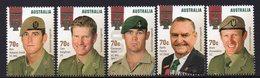 AUSTRALIA, 2015 VC WINNERS 5 MNH - 2010-... Elizabeth II