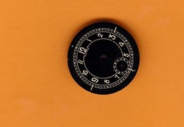 Petit Cadran De Montre Ancienne Métal (2 X 2 Cm) BE - Jewels & Clocks