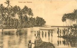 Samoa, Carte Gruss Aus Samoa, Enfants, Beau Document - Samoa