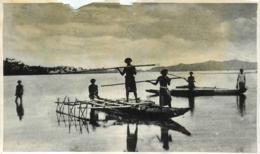Archipel Des Fidjis, Photo-carte Pêcheurs Et Pirogues - Fidji