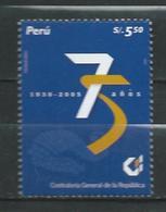 Peru / Perou 2006 The 75th Anniversary Of Control Of Public Finances. MNH - Peru