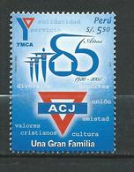 Peru / Perou 2006 The 85th Anniversary Of The Young Mens Christian Association Or YMCA. MNH - Peru