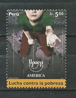 Peru / Perou 2006 AMERICA-UPAEP. Fight Against Poverty. MNH - Peru