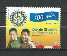 Peru / Perou 2006 The 100th Anniversary Of Rotary International. MNH - Peru