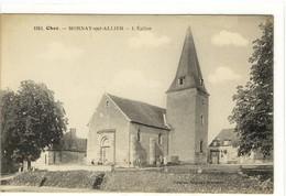Carte Postale Ancienne Mornay Sur Allier - L'Eglise - Autres Communes