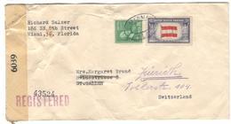 11982 - Pour La SUISSE Avec Censure - Vereinigte Staaten
