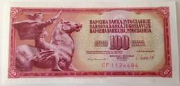 Billete Yugoslavia. 100 Dinares. 1981. Sin Circular - Yugoslavia