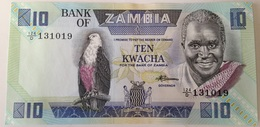 Billete Zambia. 10 Kwacha. 1980-1988. Firma 7. Águila. Sin Circular - Zambie