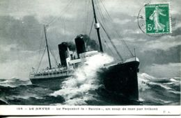"""N°68281 -cpa Transatlantique La """"Savoie"""" De La Cie Générale Transatlantique- - Paquebots"""