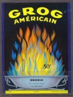 ETIQUETTE NEUVE LIQUEUR ALCOOL GROG AMERICAIN DEREIX DIGNAC 12cmx9cm WETTERWALD - Etiquettes