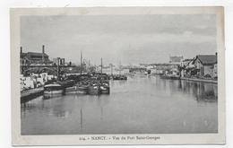 NANCY - N° 104 -VUE DU PORT SAINT GEORGES AVEC PENICHES -  CPA VOYAGEE - Nancy