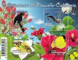 New Caledonia 2018 Flora Fauna Pollinators Bees Butterfies SS MN - Ohne Zuordnung