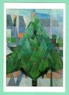 """Arts-Tableaux-""""théo-VAN DOESBURG""""né à Utrecht-1883-mort à Davos1931. 'Arbre Avec Maison.'1916.Portland(Oregon) - Autres Collections"""
