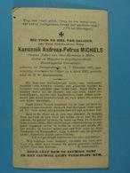 Kanunnik Andreas Michiels Pastoor Te Halle Droogenbosch 1871 Ukkel 1931 - Devotion Images