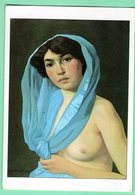 """Arts-Tableaux -Felix-VALLOTTON .Lausanne,1865-Mort à PARIS 1925.""""Femme à L'écharpe Bleu.1909""""Huile Sur Toile. Ecublens - Altre Collezioni"""