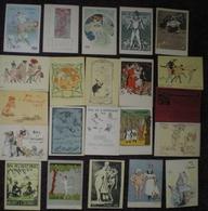 Internat- Invitations Aux Bals De L'Internat  22 Planches Illustrées Publicité Laboratoire STAGO Solution 1900/1930 - Publicités