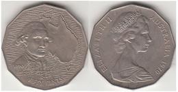 Australia 50 Cents 1970 Aniversary Discovery James Cook KM#69 - Used - Moneta Decimale (1966-...)