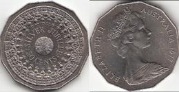 Australia 50 Cents 1977 Queen's Silver Jubilee KM#70 - Used - Moneta Decimale (1966-...)