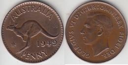 Australia 1 Penny 1949  Km#43 - Used - Monnaie Pré-décimale (1910-1965)
