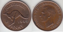 Australia 1 Penny 1949  Km#43 - Used - Moneta Pre-decimale (1910-1965)