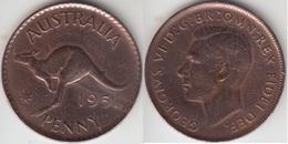 Australia 1 Penny 1951  Km#43 - Used - Moneta Pre-decimale (1910-1965)