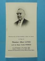 Albert Lange Vf Possoz Havelange 1890 Namur 1964 - Devotion Images