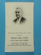 Albert Lange Vf Possoz Havelange 1890 Namur 1964 - Images Religieuses