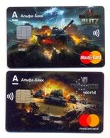 Russia VOID MasterCard AlfaBank World Of Tanks Game - Carte Di Credito (scadenza Min. 10 Anni)